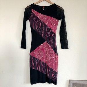 Jean Paul Gaultier Soleil Mesh Midi Dress